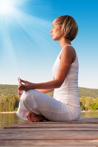 Energy runs along your spine through seven chakras.